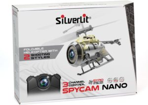 Silverlit Τηλεκατευθυνόμενο Ελικόπτερο 2.4G Spy Cam Nano (3CH)-3 Σχέδια (7530-84729)