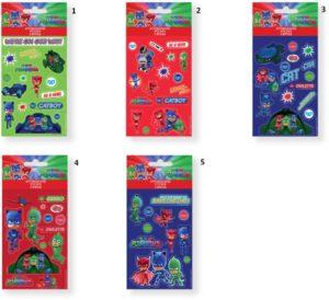 PJ Masks Αυτοκόλλητα 8x12cm 5 Φύλλα-5 Σχέδια (0484035)