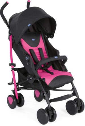Chicco Καρότσι Echo Complete Με Μπάρα Προστασίας-Pink (79431-17)