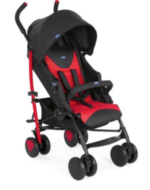 Chicco Καρότσι Echo Complete Με Μπάρα Προστασίας-Scarlet (79431-30)