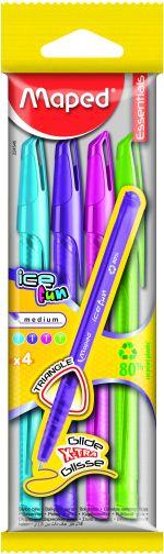 Maped Στυλό Green Ice Fun Fancy Με Καπάκι-4 Τμχ (225546)
