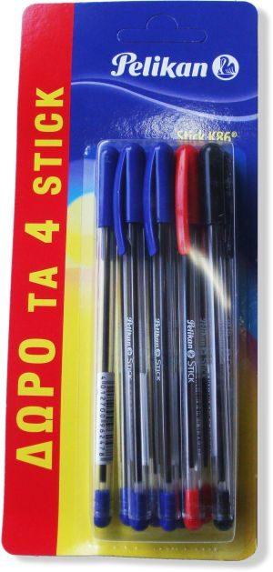 Pelikan Στυλό Stick K88 - 10Τμχ (6+4 Δώρο) (1103586)
