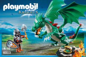 Playmobil Ιππότης & Πράσινος Δράκος (6003)