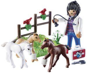 Playmobil Κτηνίατρος Με Αλογάκια (9207)