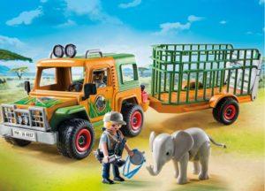 Playmobil Όχημα Σαφάρι Με Ρυμουλκούμενη Κλούβα Ζώων (6937)