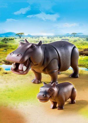 Playmobil Ιπποπόταμος με το μικρό του (6945)
