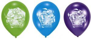 Μπαλόνια Χελωνονιντζάκια 6Τμχ (Μ450302)