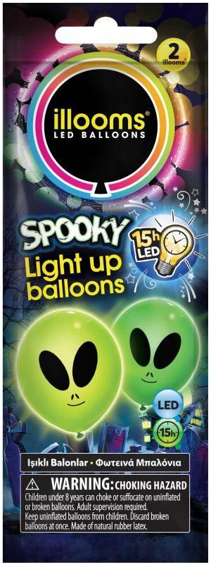 Illooms Φωτεινά Μπαλόνια Spooky-3 Σχέδια (LLM07000)