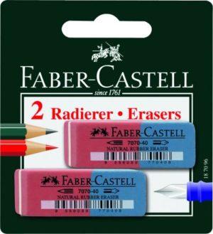 Faber Castell 2 Γόμες Μπλε-Κόκκινο (12305985)
