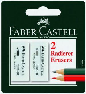 Faber Castell Γόμες Λευκές Μικρές 2 Τμχ (12305485)