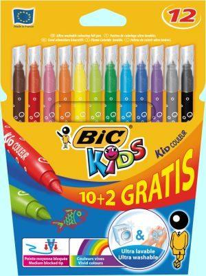Bic Μαρκαδόροι Ζωγραφικής Kids Couleur 10+2 (920294)