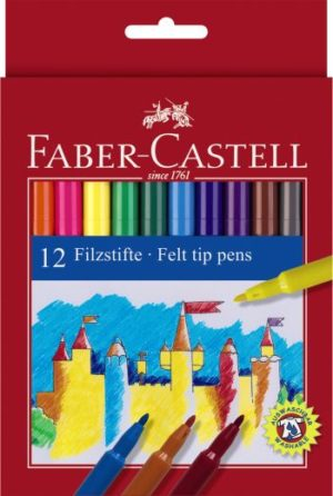 Faber Castell Μαρκαδόροι Λεπτοί Σετ 12Τμχ (12308674)