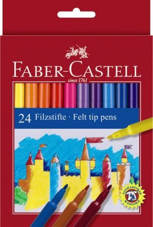 Faber Castell Μαρκαδόροι Λεπτοί Σετ 24Τμχ (12308675)