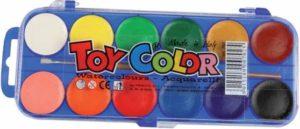 Νεροχρώματα 12 Χρώματα Toy Colour (220.702)