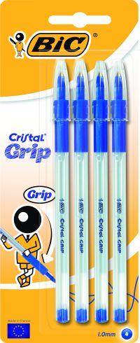 Bic Στυλό Cristal Grip Μπλε-4 Τμχ (802798)