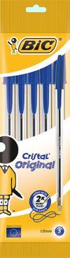 Bic Στυλό Cristal Μπλε-4Τμχ (8308601)