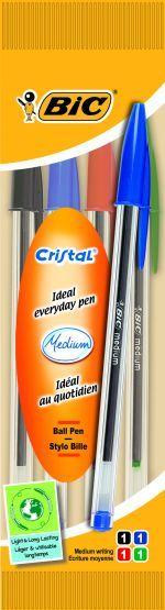 Bic Στυλό Cristal 4Τμχ (8308621)