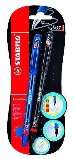 Stabilo Στυλό 588 Exam Μπλε - 2Τμχ (11588002)