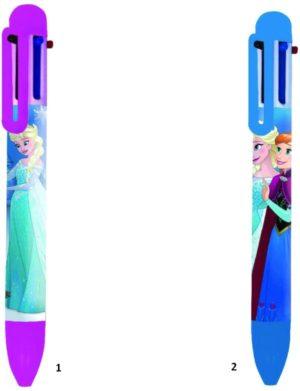 Frozen Στυλό Με 6 Χρώματα-2 Σχέδια (0561071)
