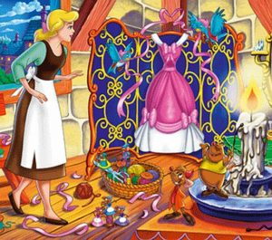 Clementoni Παζλ 4Χ6 Disney-Σταχτοπούτα (1200-20516)