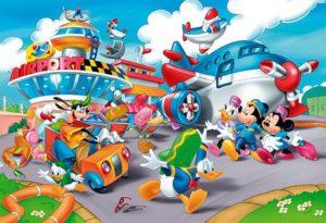 Clementoni Παζλ 40 Disney-Mickey Αεροδρόμιο (1200-25410)