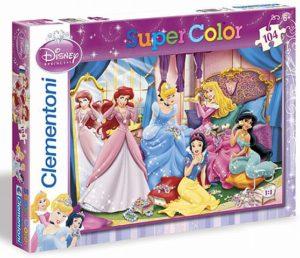 Clementoni Παζλ 104 S.C Disney-Princess Λαμπερά Κοσμήματα (1210-27828)