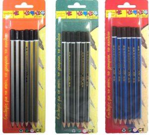 Μολύβι SDC Ριγωτό Β-6Τμχ (Σ0512.6)