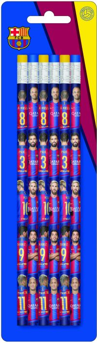 Barcelona Μολύβι Με Γόμα 6Τμχ (0170622)