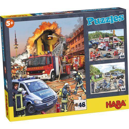 Haba Παζλ Οχήματα Άμεσης Δράσης 3x48Τμχ (140-300493)