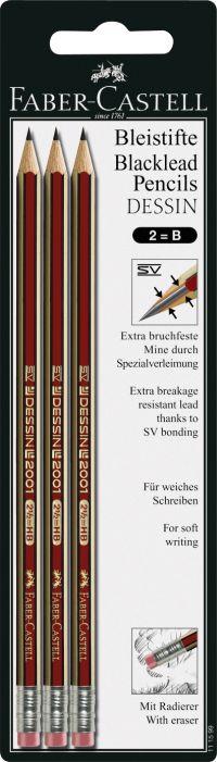Faber Castell Μολύβια Design 2001 B 3Τμχ (12302838)