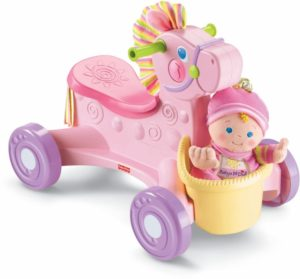 Fisher Price Briliant Basics-Pony Pink Musical Ride On (N9140)