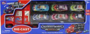 BW D/C F/W Νταλίκα Container 37εκ+Σετ Οχήματα 6Τμχ. (TH739)