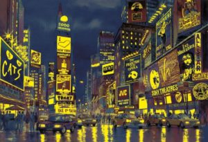Clementoni Παζλ 1000 Fluor.New York Lights (39249)
