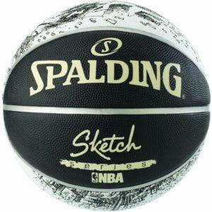 Spalding Μπάλα Μπάσκετ Sketcs Series Black/White S7 (83-534Z1)