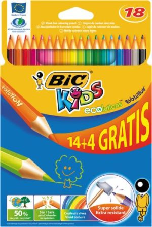 Bic Ξυλομπογιές Kids Evolution-14+4 Τμχ (829032)