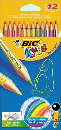 Bic 12 Ξυλομπογιές Kids Tropicolors (832566)