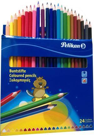 Pelikan Ξυλομπογιές BSDN-24 Χρώματα (297762)
