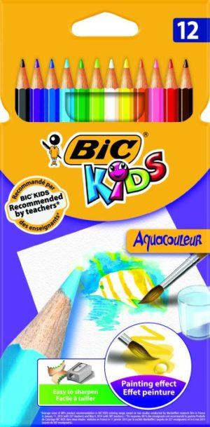Bic Ξυλομπογιές Kids Aquacouleur-12Τμχ (8575613)