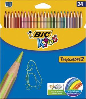 Bic Ξυλομπογιές Kids Tropicolors 24Τμχ (937518)
