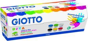 Giotto Δακτυλομπογιές 100ml-6 Χρώματα (534100)