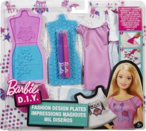 Barbie D.I.Y. Σετ Στένσιλ Μόδας-2 Σχέδια (DYV66)