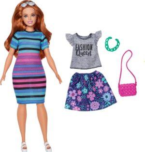 Barbie Fashionistas Κούκλα & Μόδα-4 Σχέδια (FJF67)
