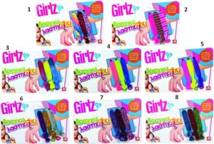 Girlz Βραχιολάκι Λαστιχάκι-8 Σχέδια (1080-08210)