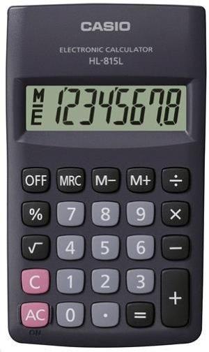 Casio Αριθμομηχανή 8 Ψηφίων Μπαταρίας (6-HL-815LBK)
