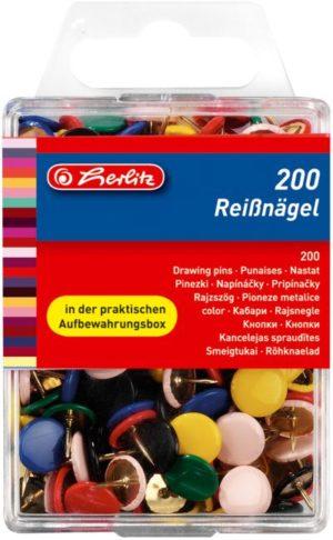 Herlitz Πινέζες Μεταλλικές Έγχρωμες - 200Τμχ (8770109)