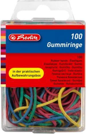 Herlitz Λάστιχα Χρωματιστά - 100Τμχ (8770000)
