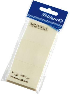 Pelikan Αυτοκόλλητα Χαρτάκια Σημειώσεων Κίτρινο 50x38mm-3 Τμχ (200048)
