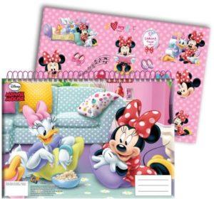 Minnie Glitter Μπλοκ Ζωγραφικής Α4+Stickers (340-61416)