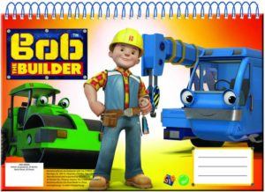 Bob The Builder Μπλοκ Ζωγραφικής Α4-30 Φύλλων (349-40413)