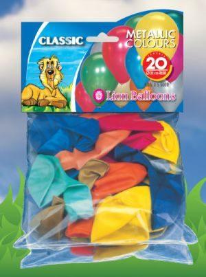 Μπαλόνια Μεταλλικά 20 Τμχ (165000)